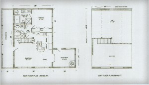 Ozark Log Cabins Starter Floor Plan 28x42