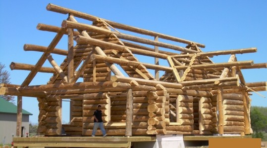 Log Cabin Roof Construction