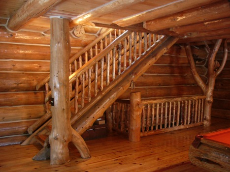 ... Rustic Ozark Stairs U0026 Rails