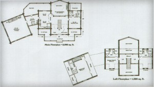 Ozark Log Cabins Basic Floor Plans