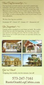 Ozark Rustic Cabins brochure 1f