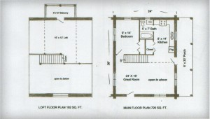 Ozark Log Cabins Starter Floor Plan 24x30