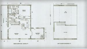Ozark Log Cabins Starter Floor Plan 28x42