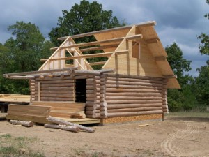 Rustic Ozark Log Cabins in progress