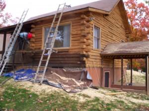 Cob Blasting a Cabin